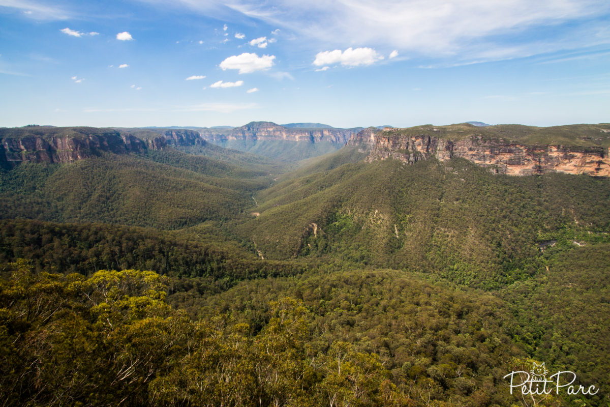 Evans Lookout sur la vallée Grose, Blue Mountains