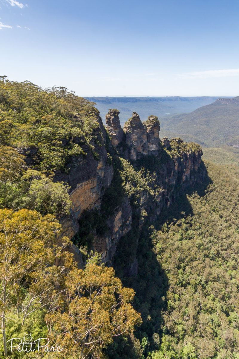 The Three Sisters depuis Echo Point, Blue Mountains