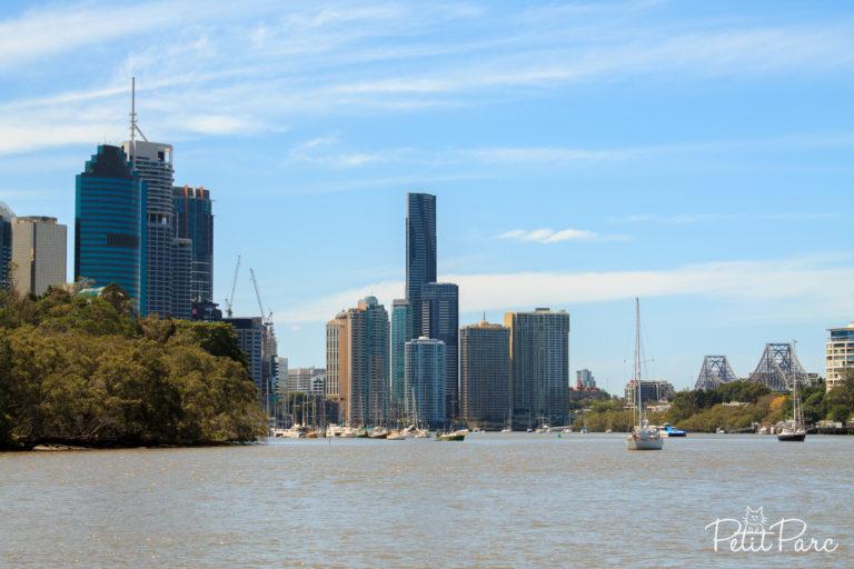 Brisbane depuis le ferry