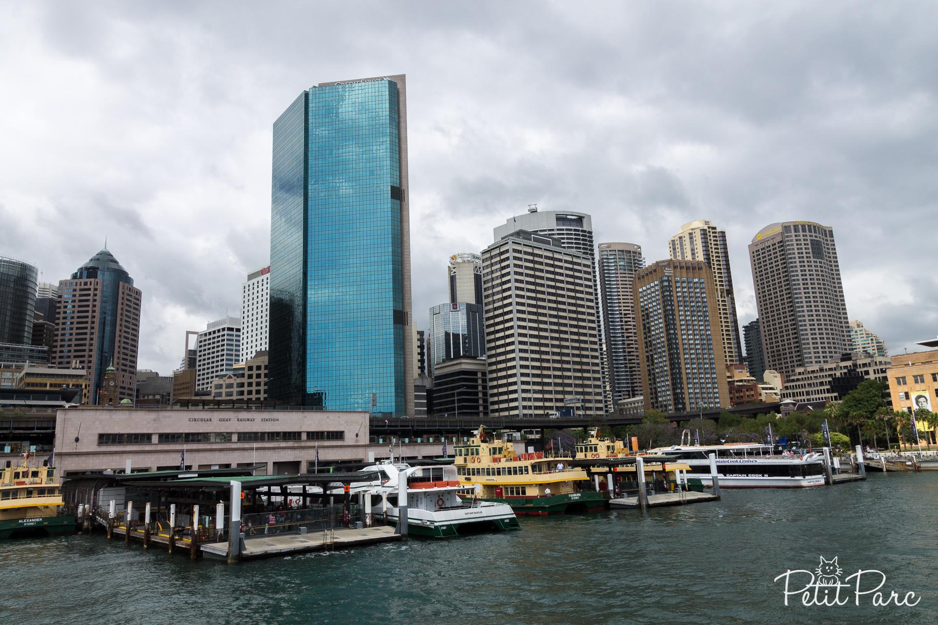 Arrivée en ferry à Sydney