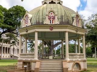 Les jardins du Palais Iolani