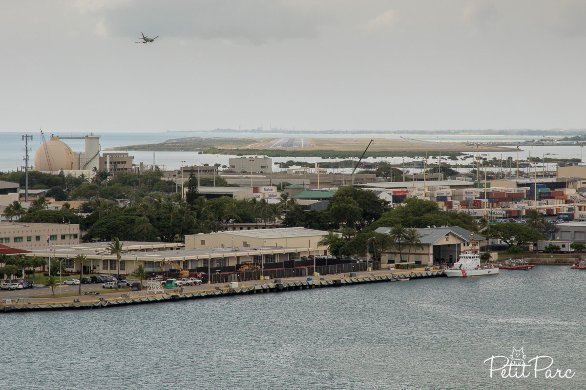 L'aéroport d'Honolulu depuis la Aloha Tower