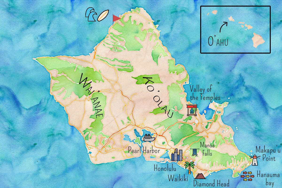 Carte Oahu