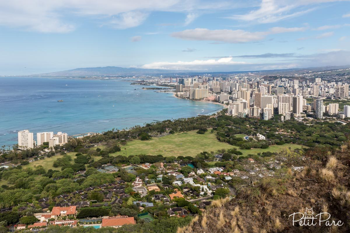 Honolulu depuis Diamond Head