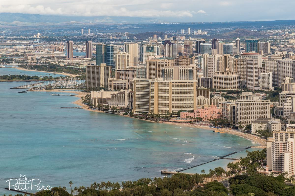 Waikiki depuis Diamond Head