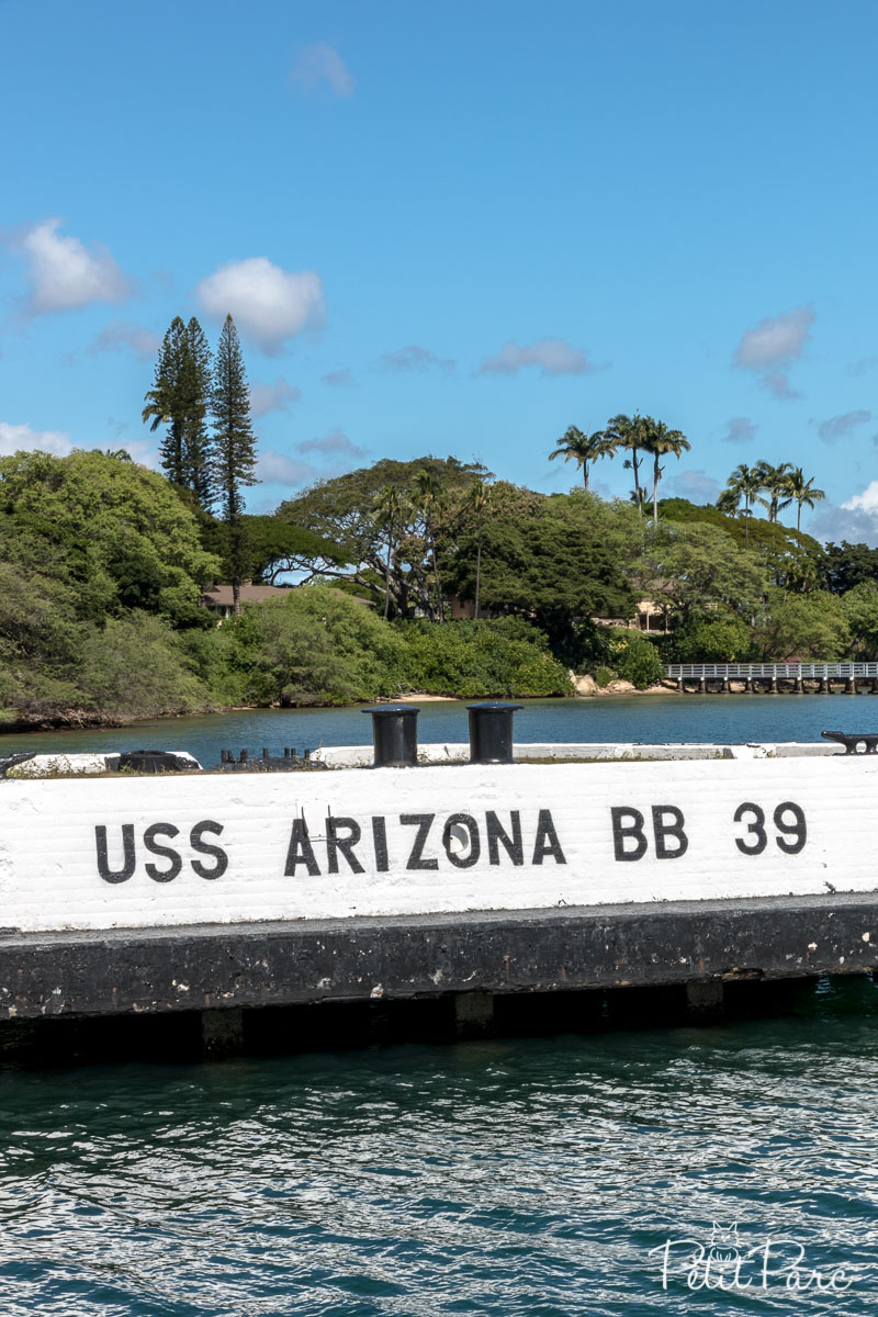 Le mémorial de l'USS Arizona
