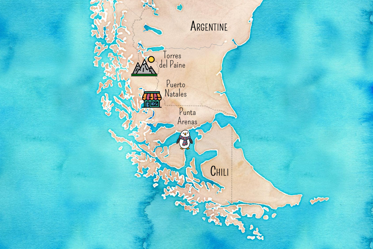 carte patagonie chilienne
