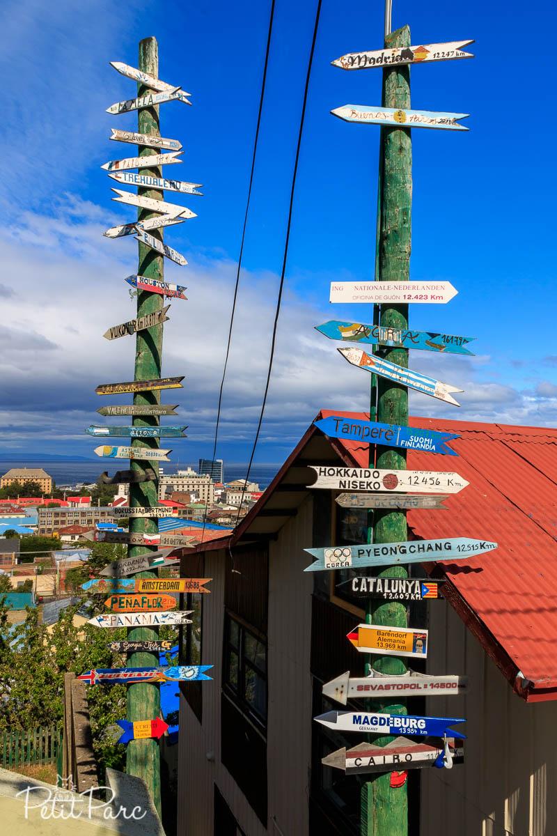 Punta Arenas vue d'en haut