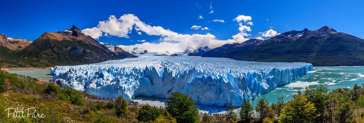 Le Perito Moreno depuis les passerelles d'observation