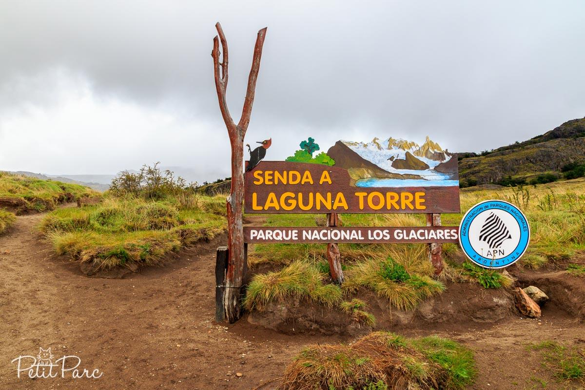 Début de la randonnée Laguna Torre
