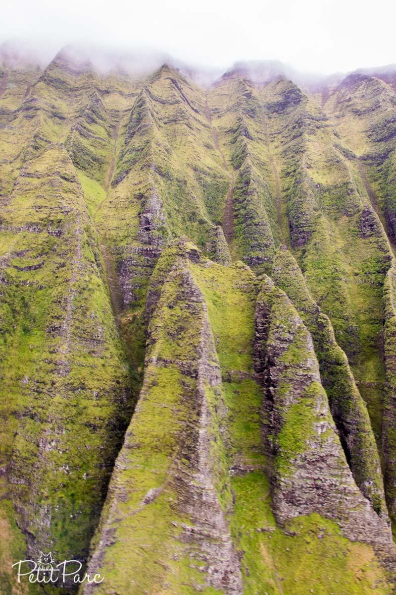 La Na Pali Coast vue du ciel
