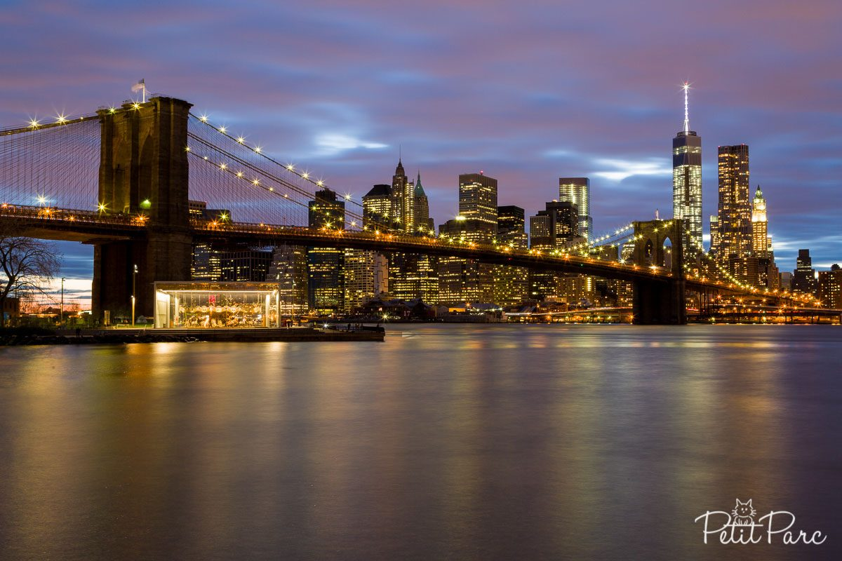 Brooklyn Bridge soir pose 30s