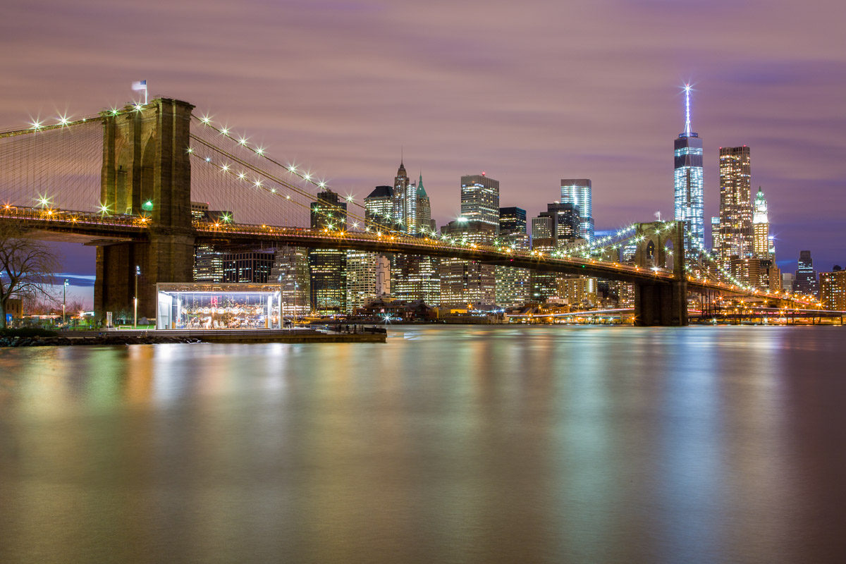 Brooklyn bridge de nuit