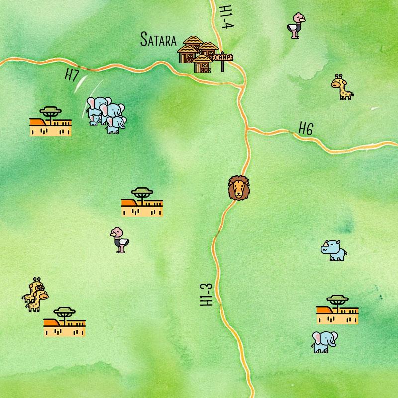 Carte de la région de Satara