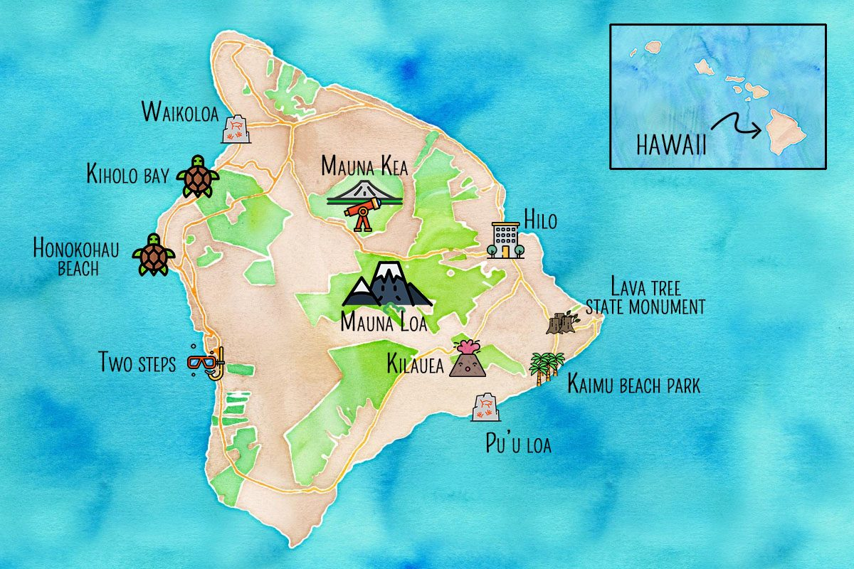 Carte d'Hawaii