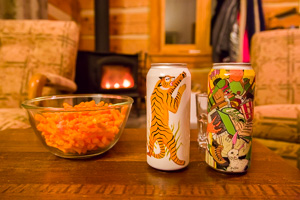 Bières et Cheetos BB Jaune