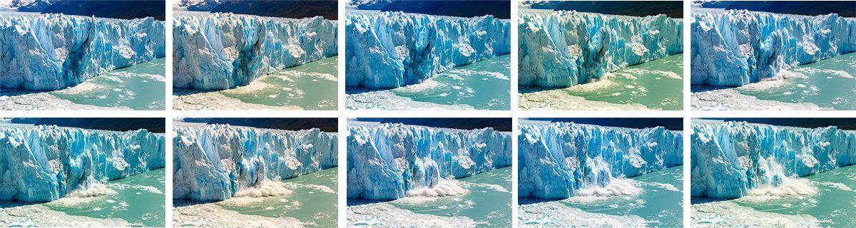 Perito Moreno balance blancs pas homogène