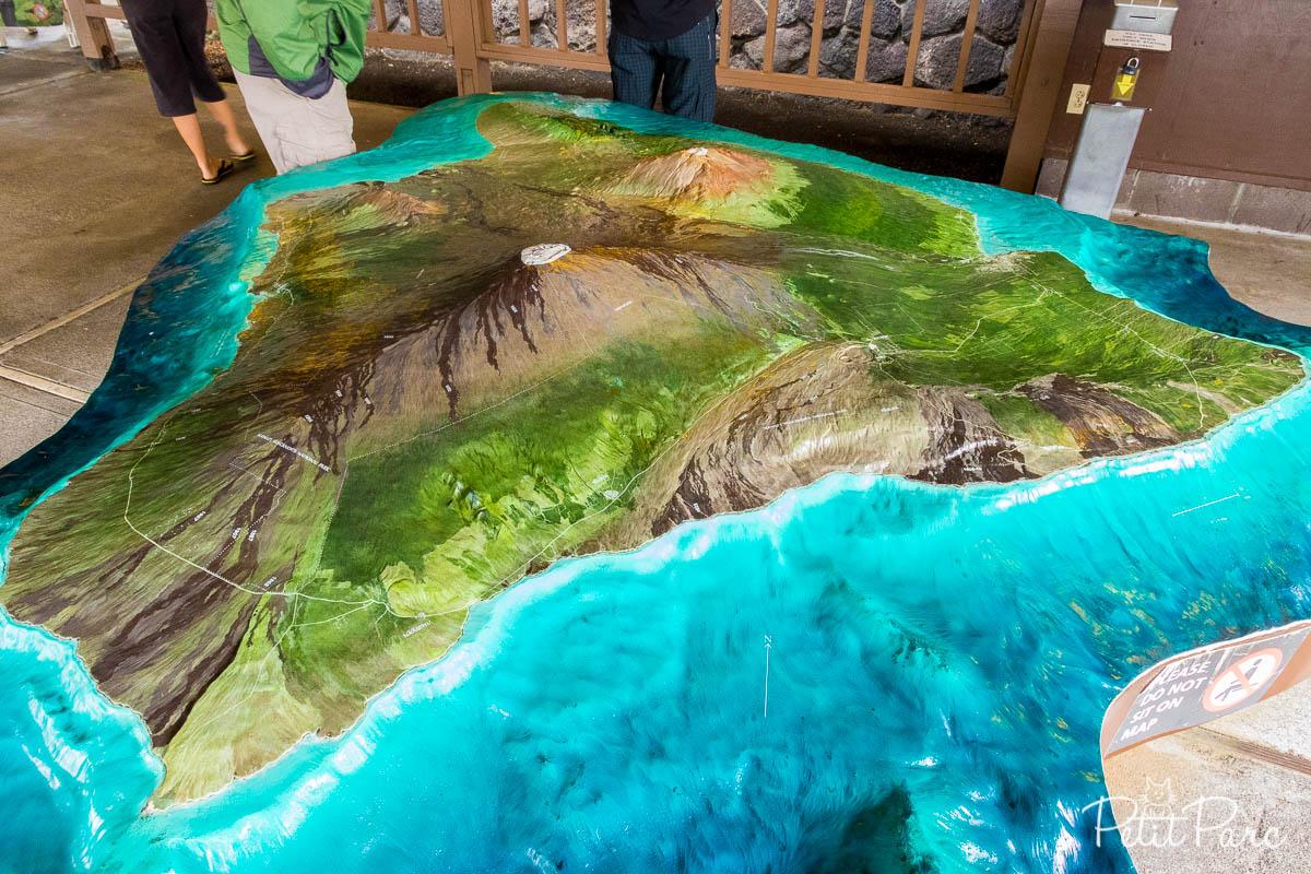 Maquette de l'île d'Hawaï