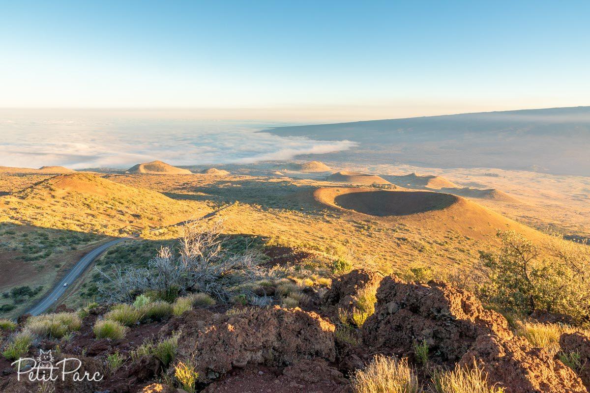 Vue depuis le centre des visiteurs du Mauna Kea