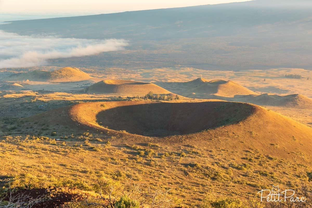 Cratères sur le Mauna Kea