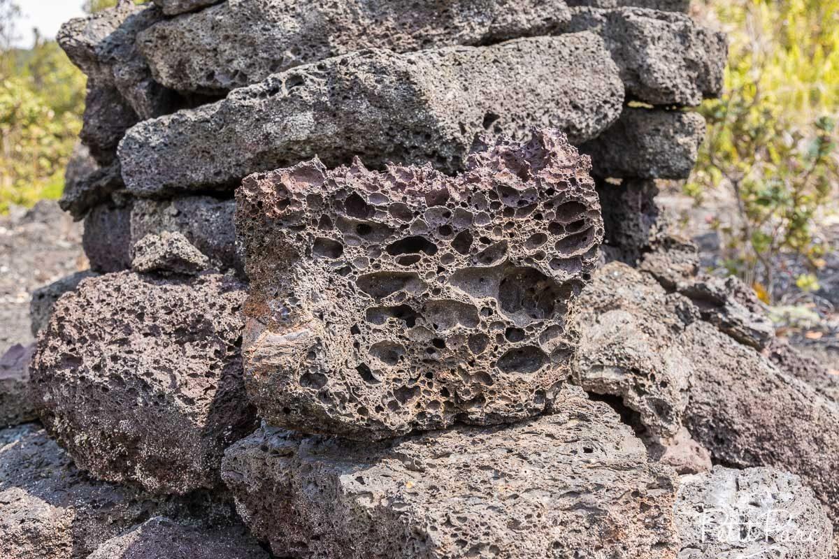 Structure de la roche volcanique