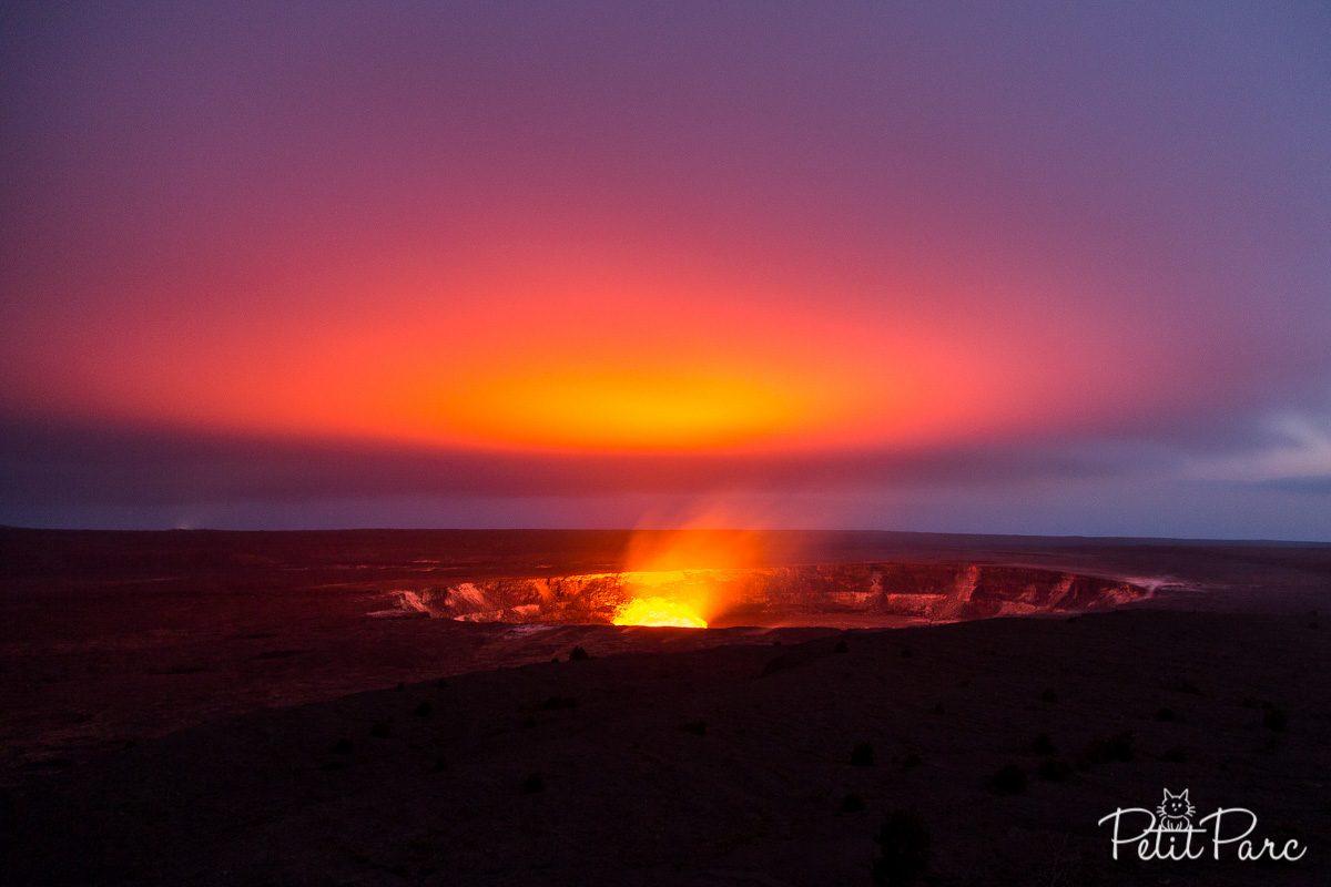 Kilauea la nuit