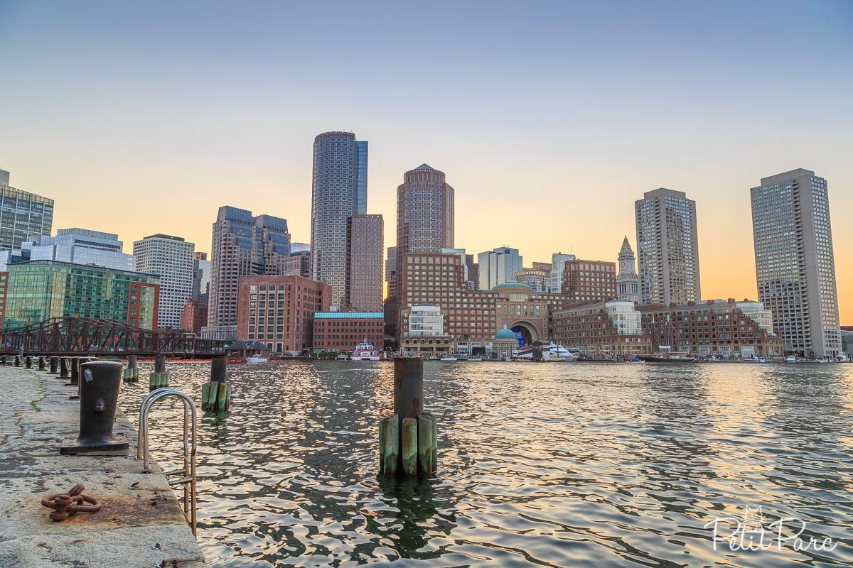 skyline boston HDR
