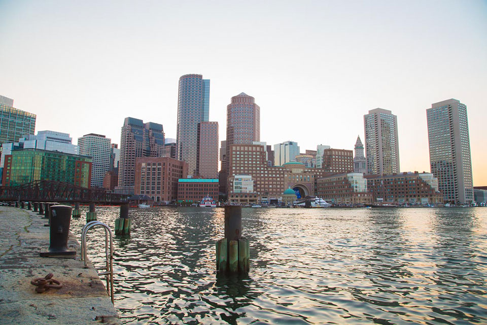 skyline boston surexposee
