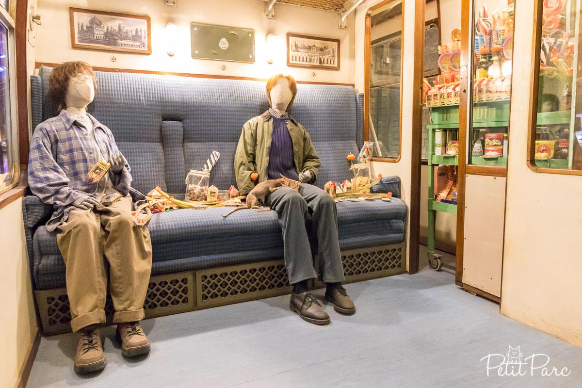 Harry et Ron dans le Poudlard Express