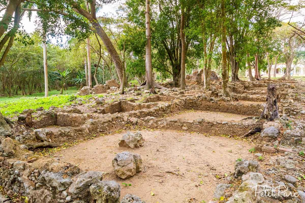 Ruines des habitations d'esclaves