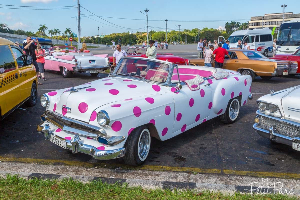 Chevrolet à pois roses