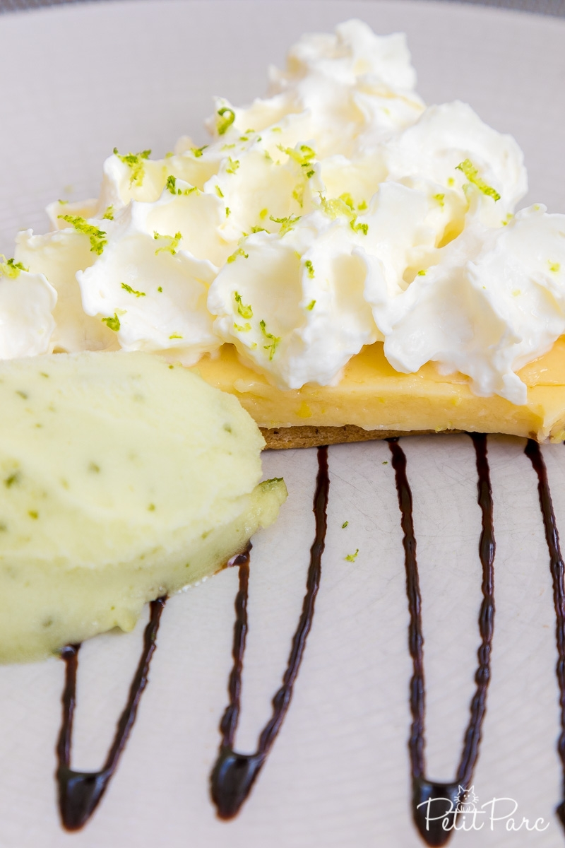 Dessert : Tarte au citron, crème mojito