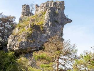 Un rocher qui rappelle le nez de Cyrano
