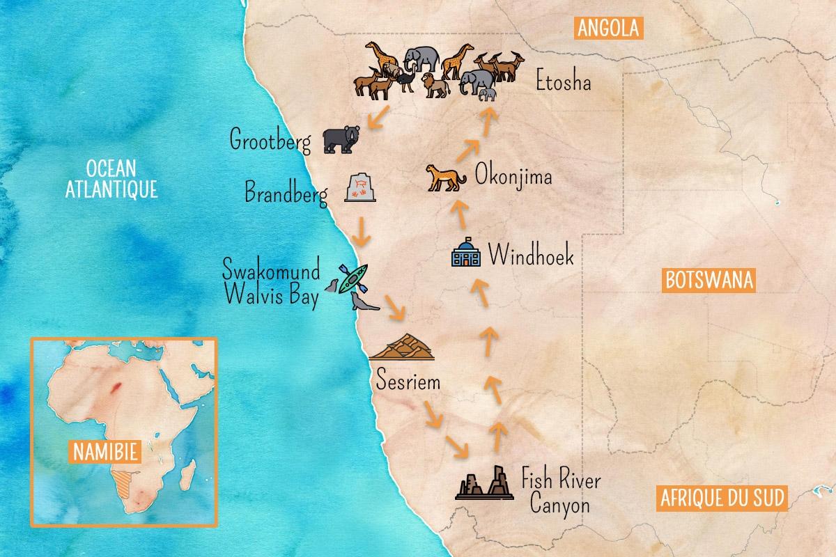 road trip namibie